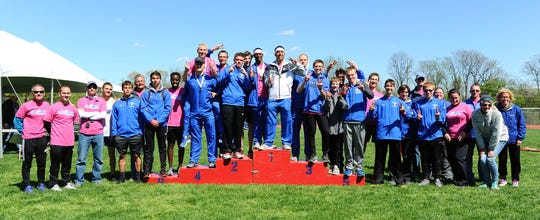 The Cedar Crest boys celebrated their 22nd straight county title on Saturday.