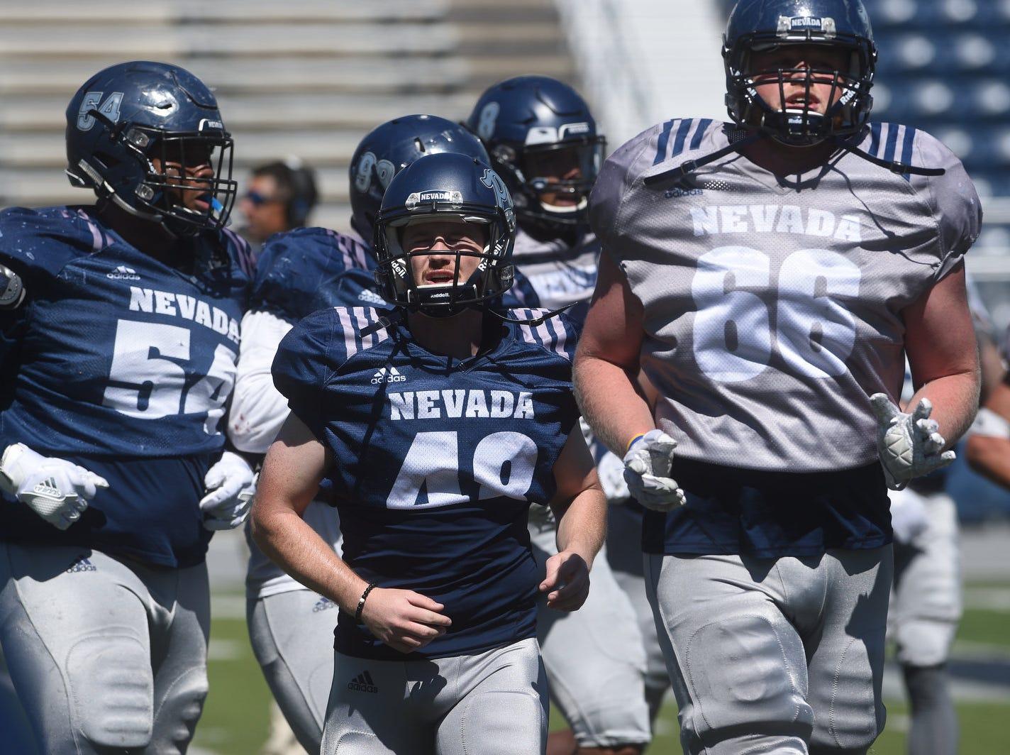 Nevada Football's annual spring game at Mackay Stadium in Reno on April 27, 2019.