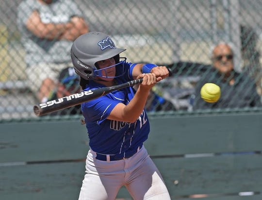 McQueen swept Manogue in softball on Tuesday.