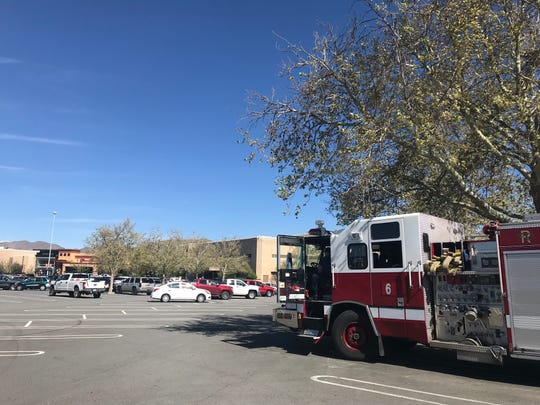 Fire and police units responded to Meadowood Mall on Saturday, April 27 after a report of a suspicious package. The package was removed for investigation.