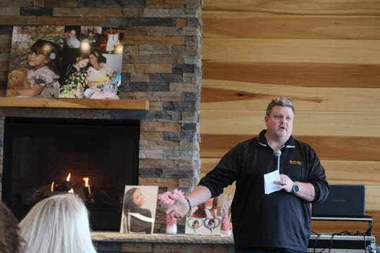 Chad Drexel, Brittanee Drexel's father, talks about the importance of always knowing where your kids are during a 10th anniversary gathering for his missing daughter Saturday at Webster Park.