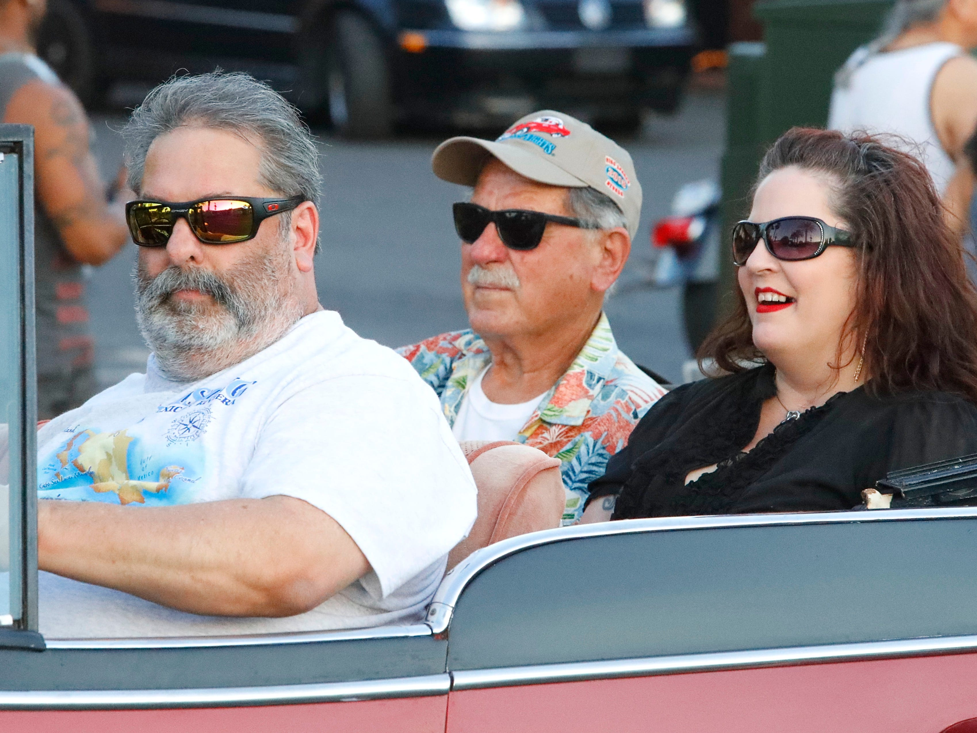 Drivers took their Kool rides on the Friday Nite Cruise route so spectators could admire their cars and other classic vehicles as part of Kool April Nites.