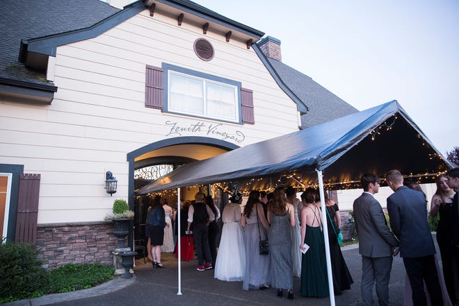 Sprague High School holds prom at Zenith Vineyards on April 26, 2019. The prom ended early due to an electric outage and will be rescheduled.