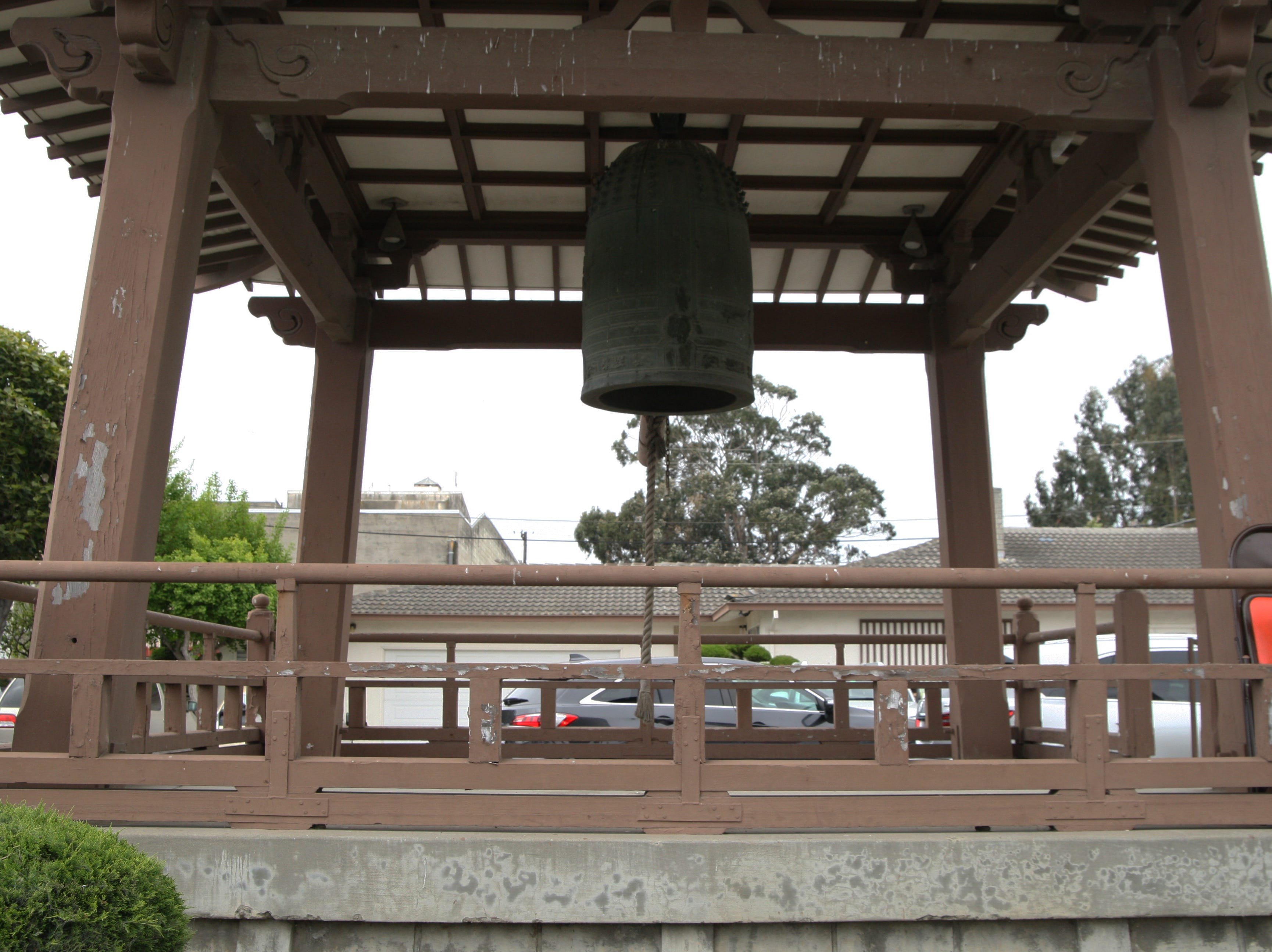 The gong outside the Salinas Bhuddist Temple, which hosted part of the Annual Asian Festival. April 27, 2019.