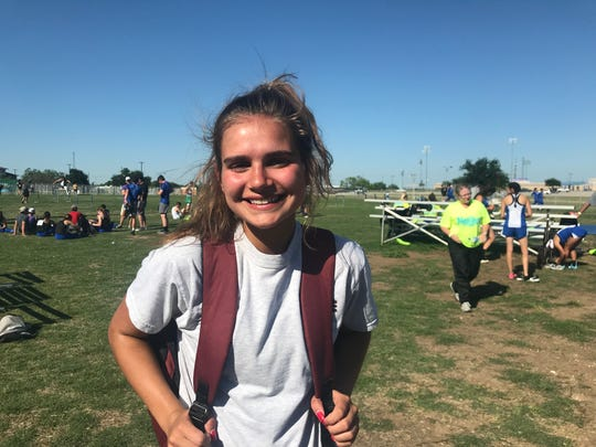 Bronte High School sophomore Katelyn Bohensky won the girls pole vault April 26 at the Region II-1A Track and Field Championships at Angelo State University's LeGrand Stadium.
