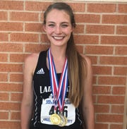 Water Valley's Kenzie Jordan competed in three events at the 2019 UIL State Track and Field Championships in Austin.
