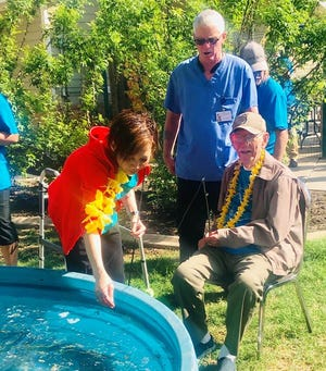 Seniors at the Baptist Retirement Community enjoyed a few hours of angling in San Angelo on Friday during the ninth-annual Fishing Extravaganza.