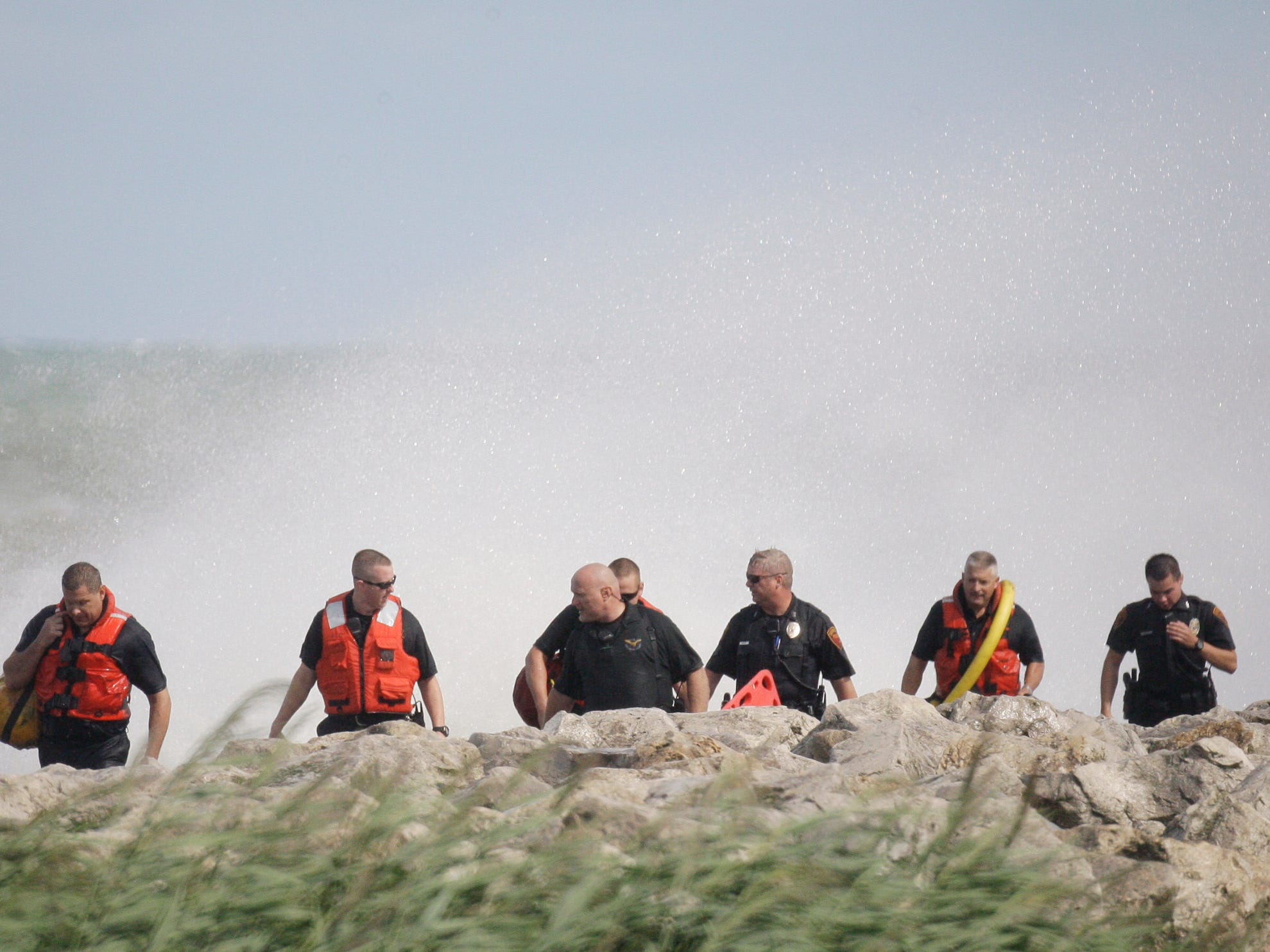 An overall at search operations at North Pier on Aug. 10, 2012, in Sheboygan, Wis.  FILE PHOTO