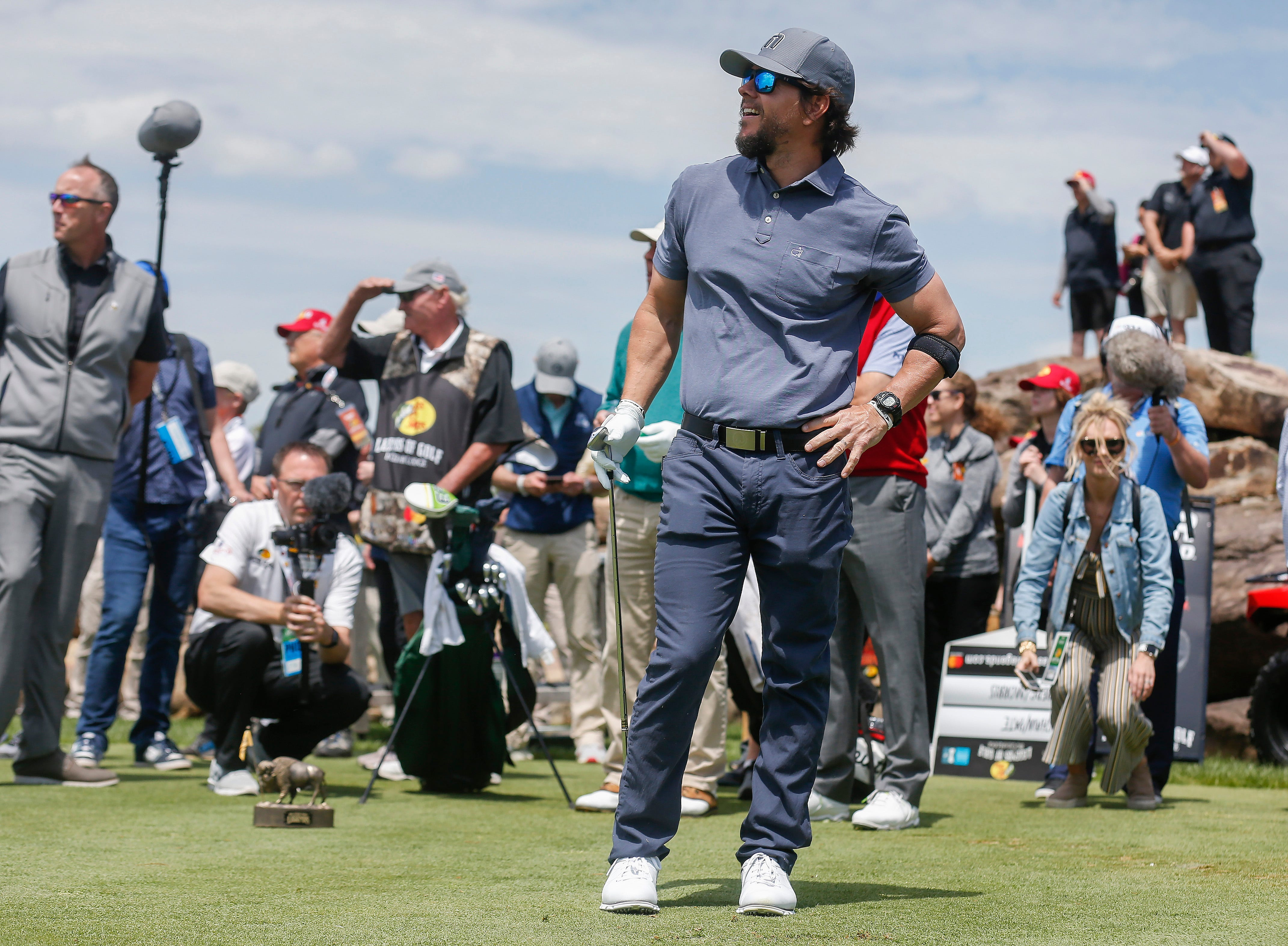 Mark Wahlberg at the Bass Pro Shops Legends Competition at Top of the Rock on Saturday, April 27, 2019.