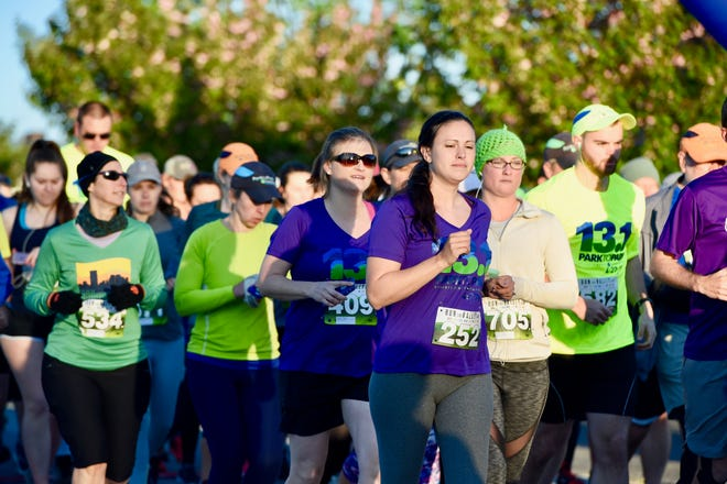 Runners start the Park to Park Half Marathon from Stuarts Draft Park to Waynesboro's Ridgeview Park on Saturday, April 27.