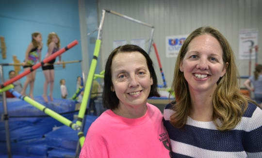 Sue Arnold and daughter Becky Quinn grew up in the world of dance and they run the St. Cloud School of Dance and Ultimate Gymnastics. Here the two are in a 2015 Times file photo. Arnold's mother, Ruth Babler, started the school more than 60 years ago.
