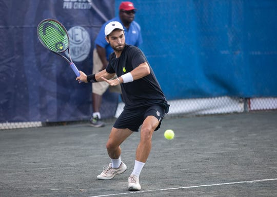 Friday's action at the Tallahassee Tennis Challenger.