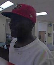 Fort Pierce Police are looking for a man who robbed an Oculina Bank Friday.