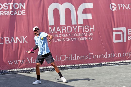 Naples 18-year-old Magnus Johnson won the Mardy Fish Tournament pre-qualifying tournament in Vero Beach.
