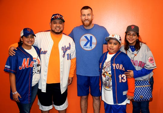 Bedford's Rocky Serrano Jr. (13) and his family got to meet Mets infielder Todd Frazier in September, months after suffering a stroke.