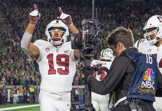 The Philadelphia Eagles picked Stanford Cardinal wide receiver J.J. Arcega-Whiteside (19) in the second round of the NFL draft.