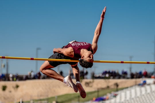 Vernon's Anthony Garza earns third place in the Region I-4A high jump.