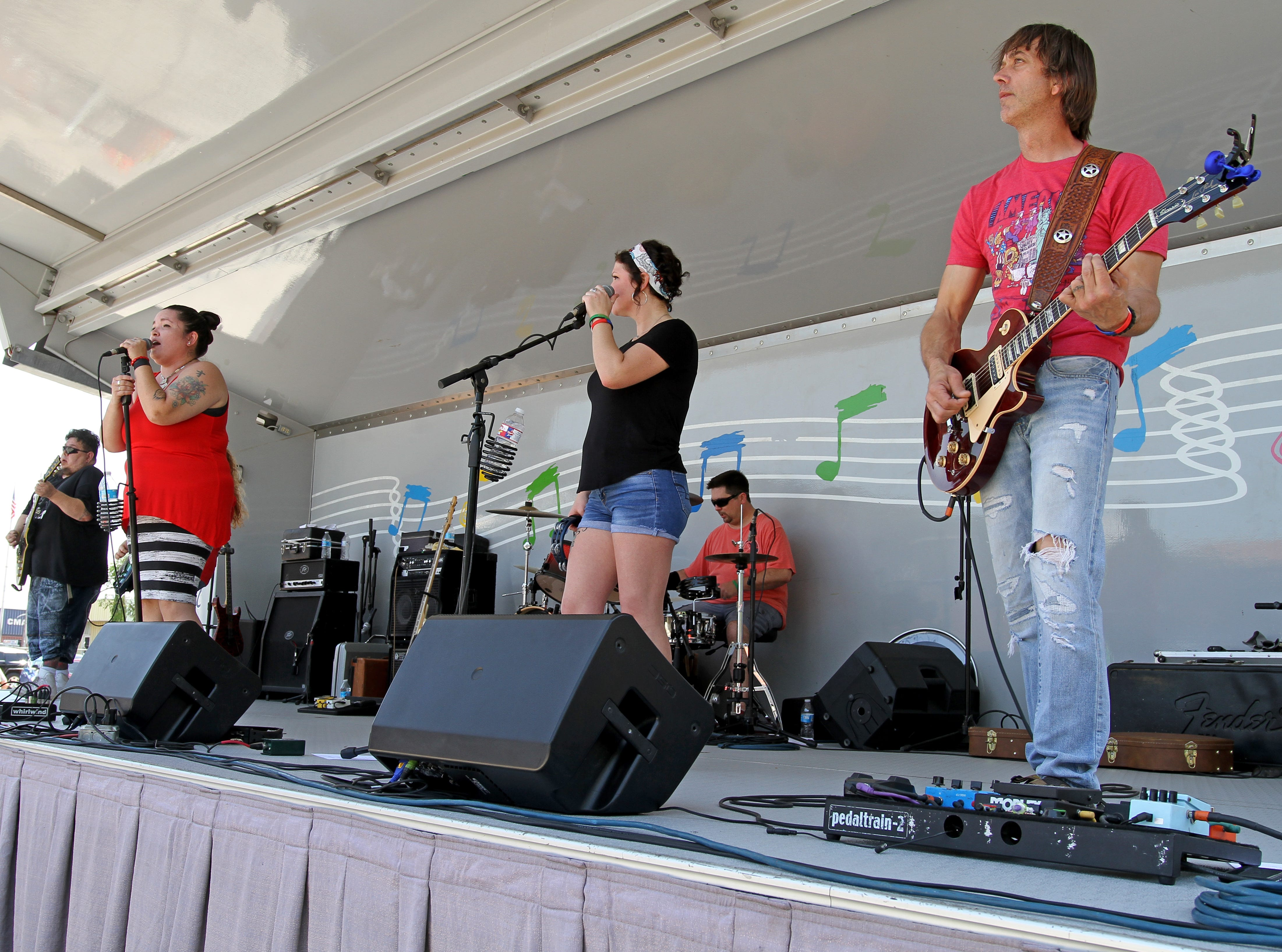 Everything In Between performs at Cajun Fest Saturday, April 27, 2019, at 10th and Ohio downtown.