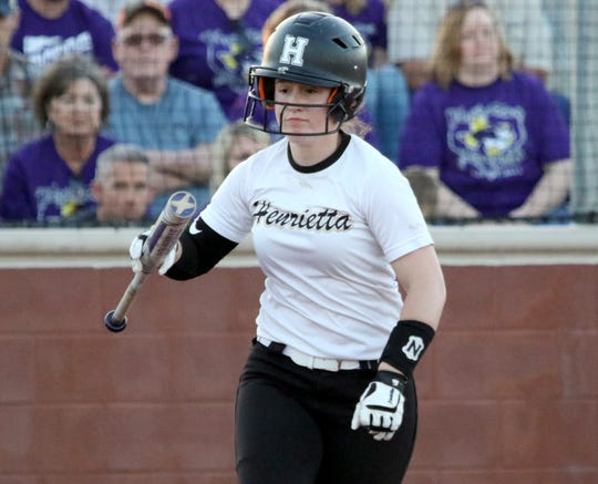 Henrietta's Kailey Barnard had five RBIs in a 10-0 win over Coahoma.