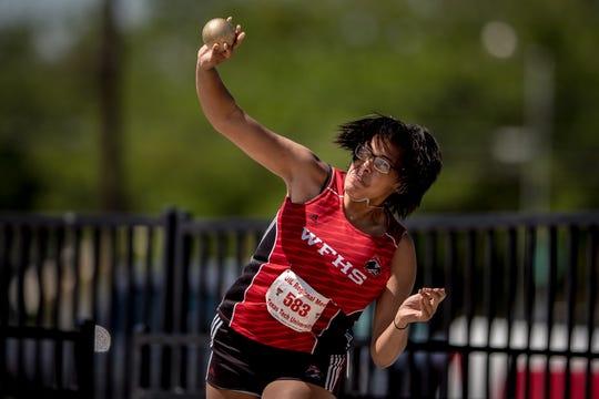 Wichita Falls High School's Jada Jackson finished third in the shot put at Saturday's Region I-5A Meet.