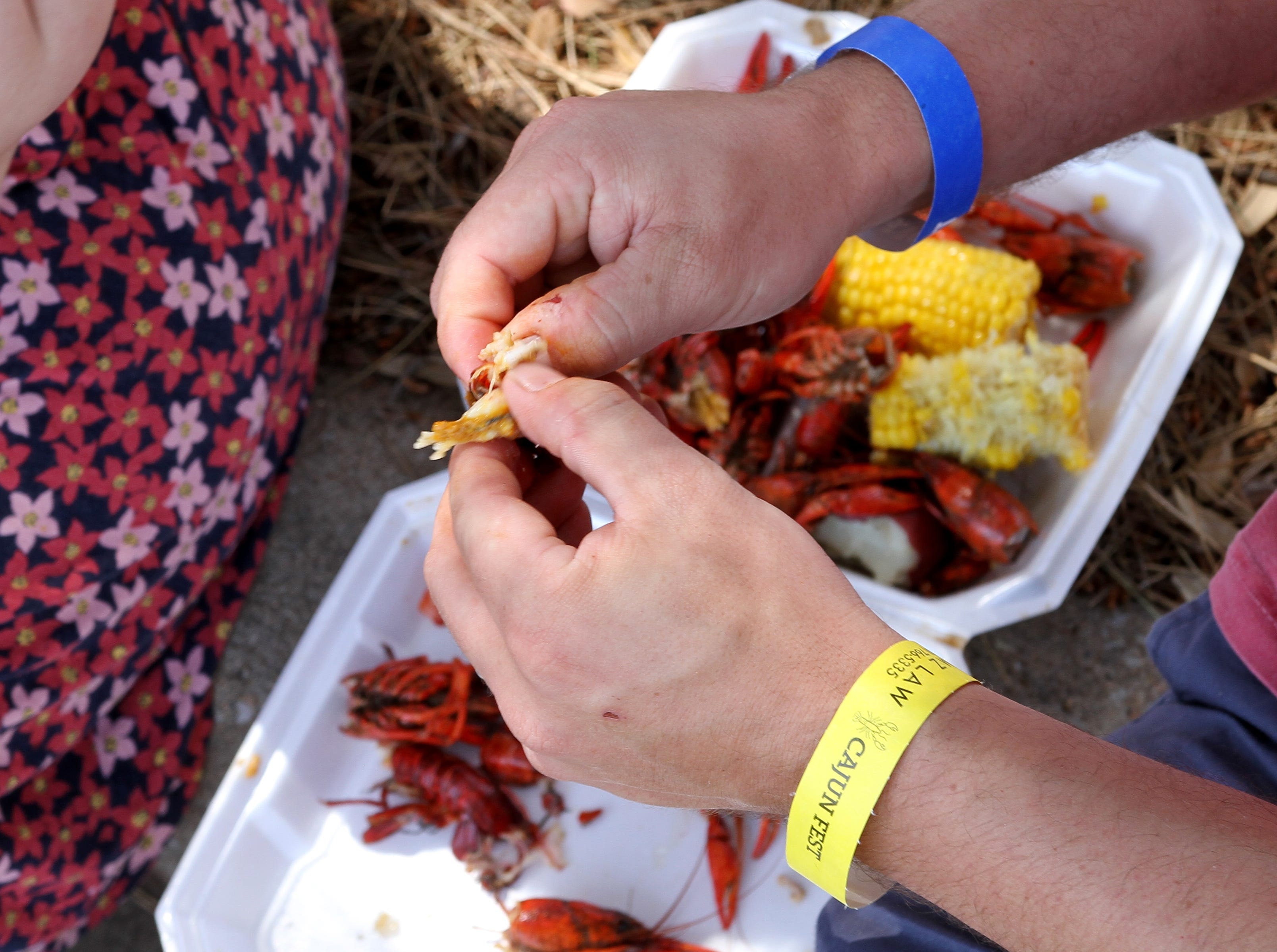 Thousands of pounds of crawfish was sold and eaten at Cajun Fest Saturday, April 27, 2019, at 10th and Ohio downtown.