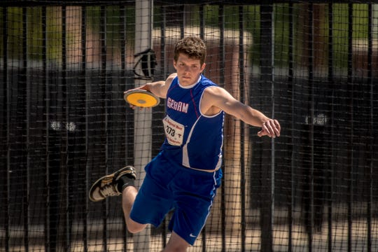Graham's Will Hays takes fourth Saturday in the Region I-4A boys discus.