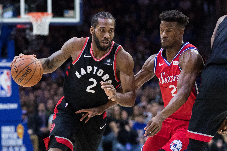 eee767992 NBA playoffs  Kawhi Leonard s huge game leads Raptors past 76ers