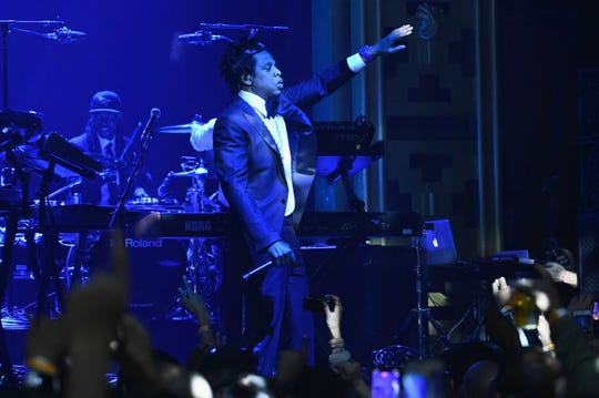 """Jay-Z performs """"B-Sides 2"""" at Webster Hall in New York Friday."""