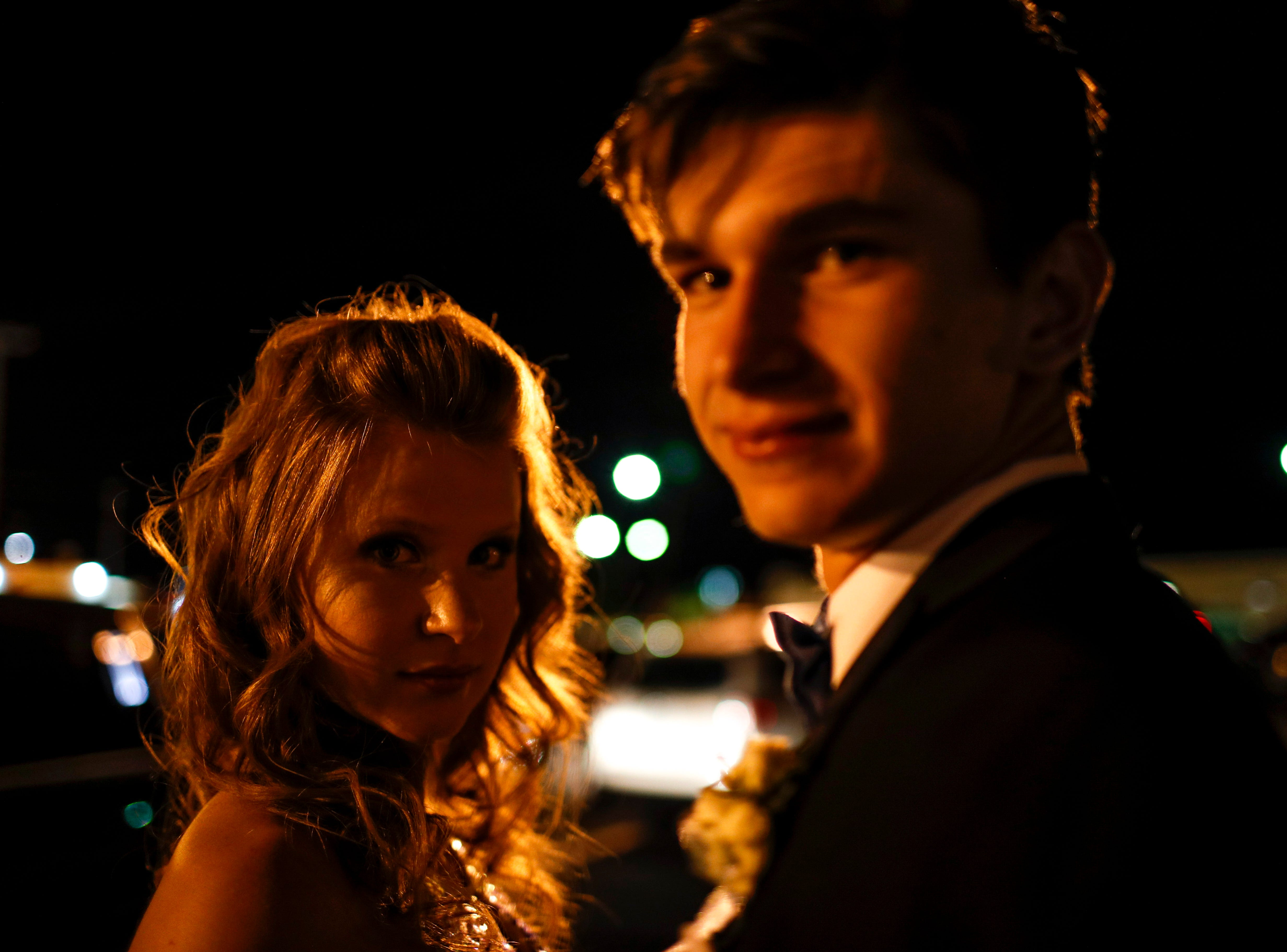 Clarksville High School students celebrate their 2019 prom at The Belle Hollow in Clarksville, Tenn., on Saturday, April 27, 2019.