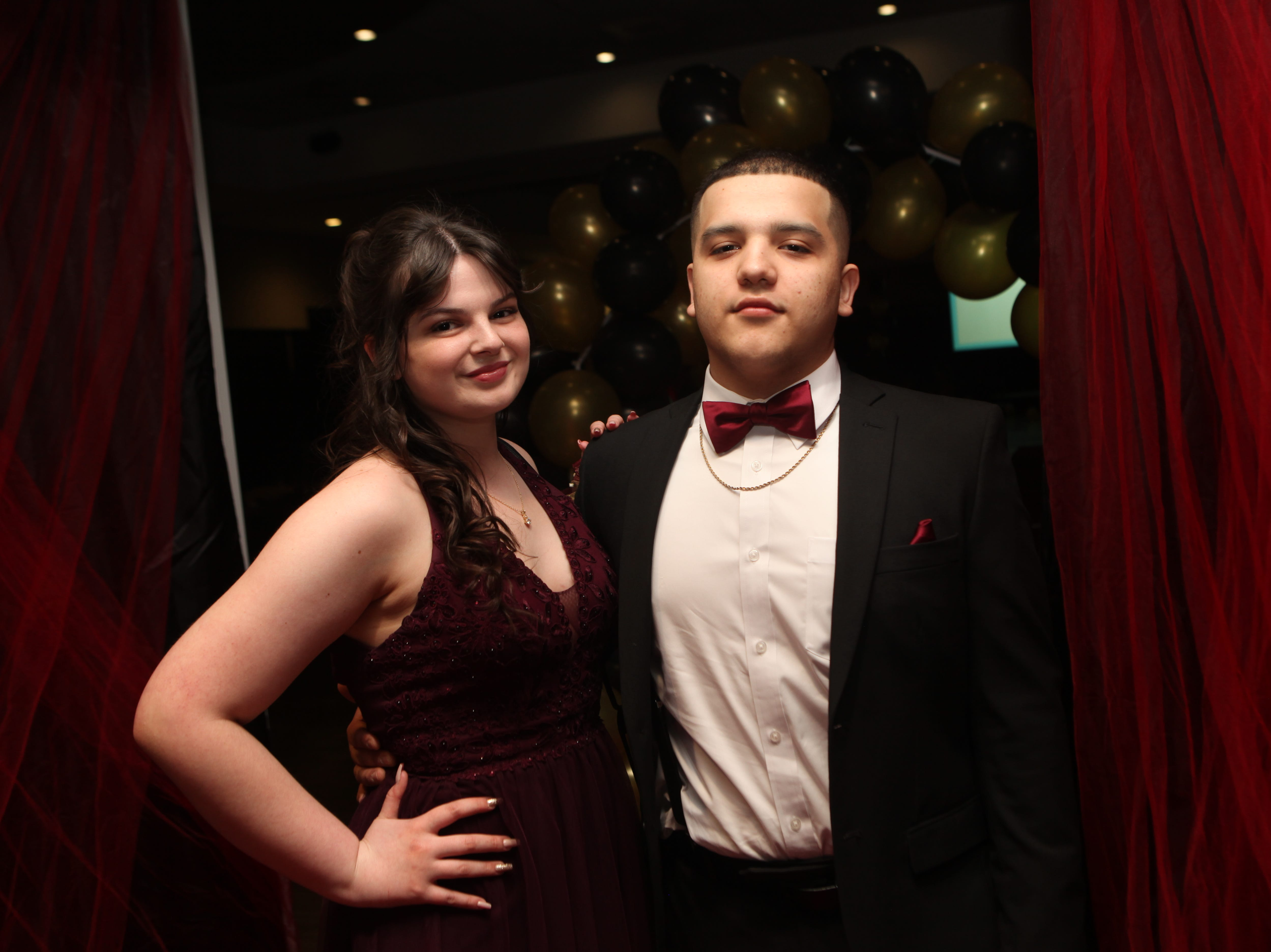 Cassandra Patterson and Julio Chavez at the Middle College 2019 prom at the APSU Ballroom on Friday, April 26, 2019.