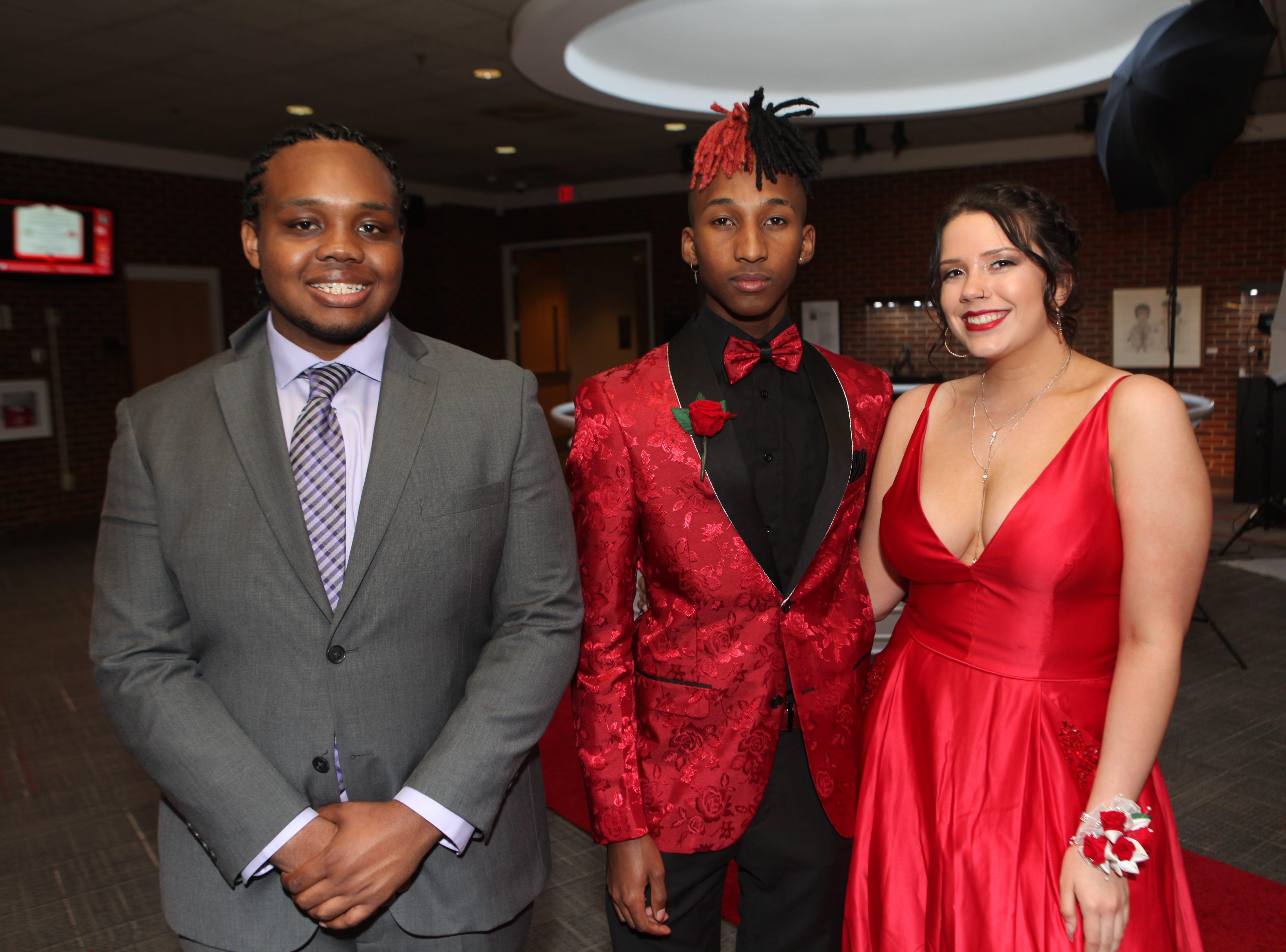 Richard Addison Yamoni Jones and Tatum Wilson at the Middle College 2019 prom at the APSU Ballroom on Friday, April 26, 2019.