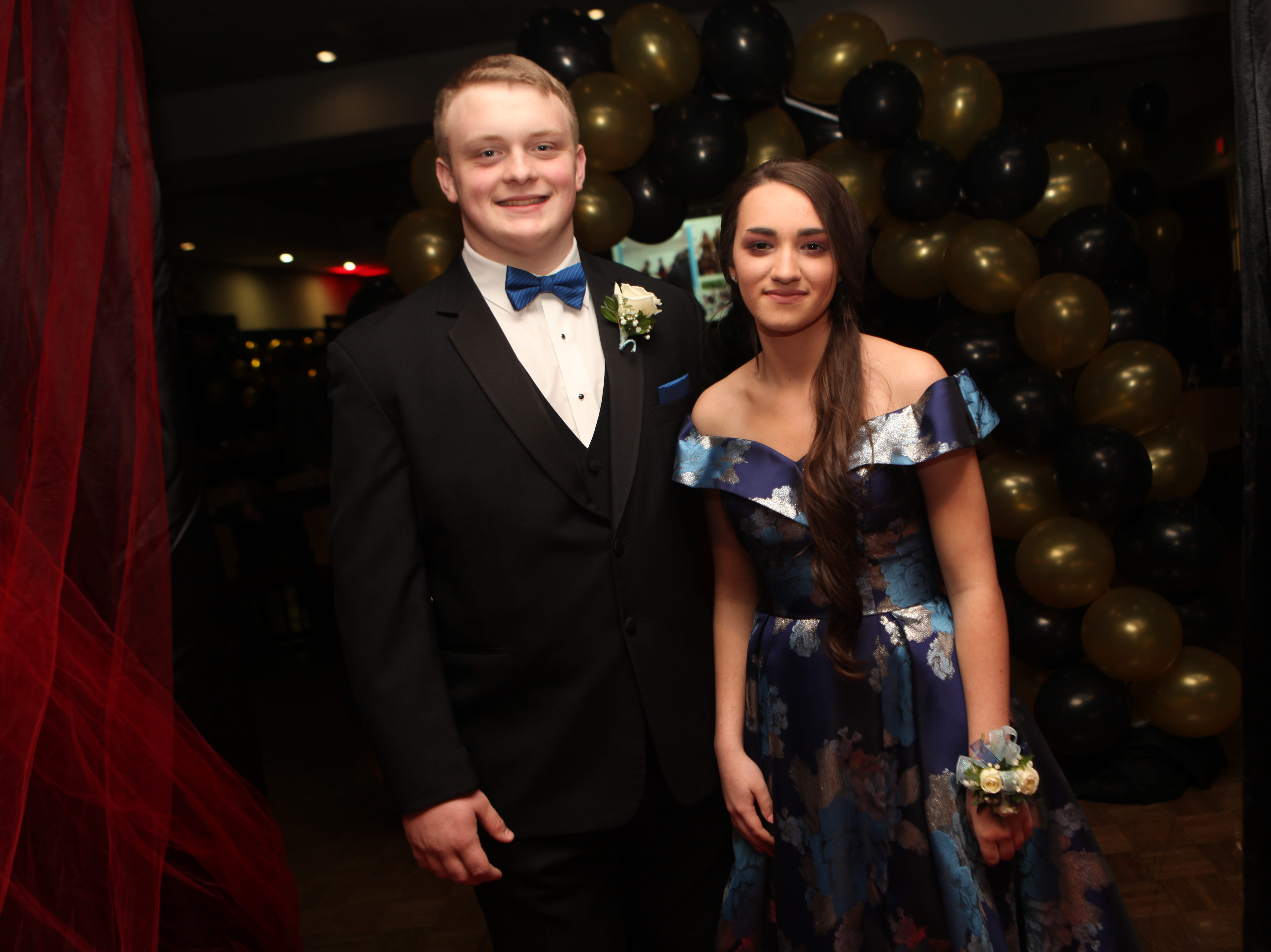 Parker Denton and Madison Harris at the Middle College 2019 prom at the APSU Ballroom on Friday, April 26, 2019.