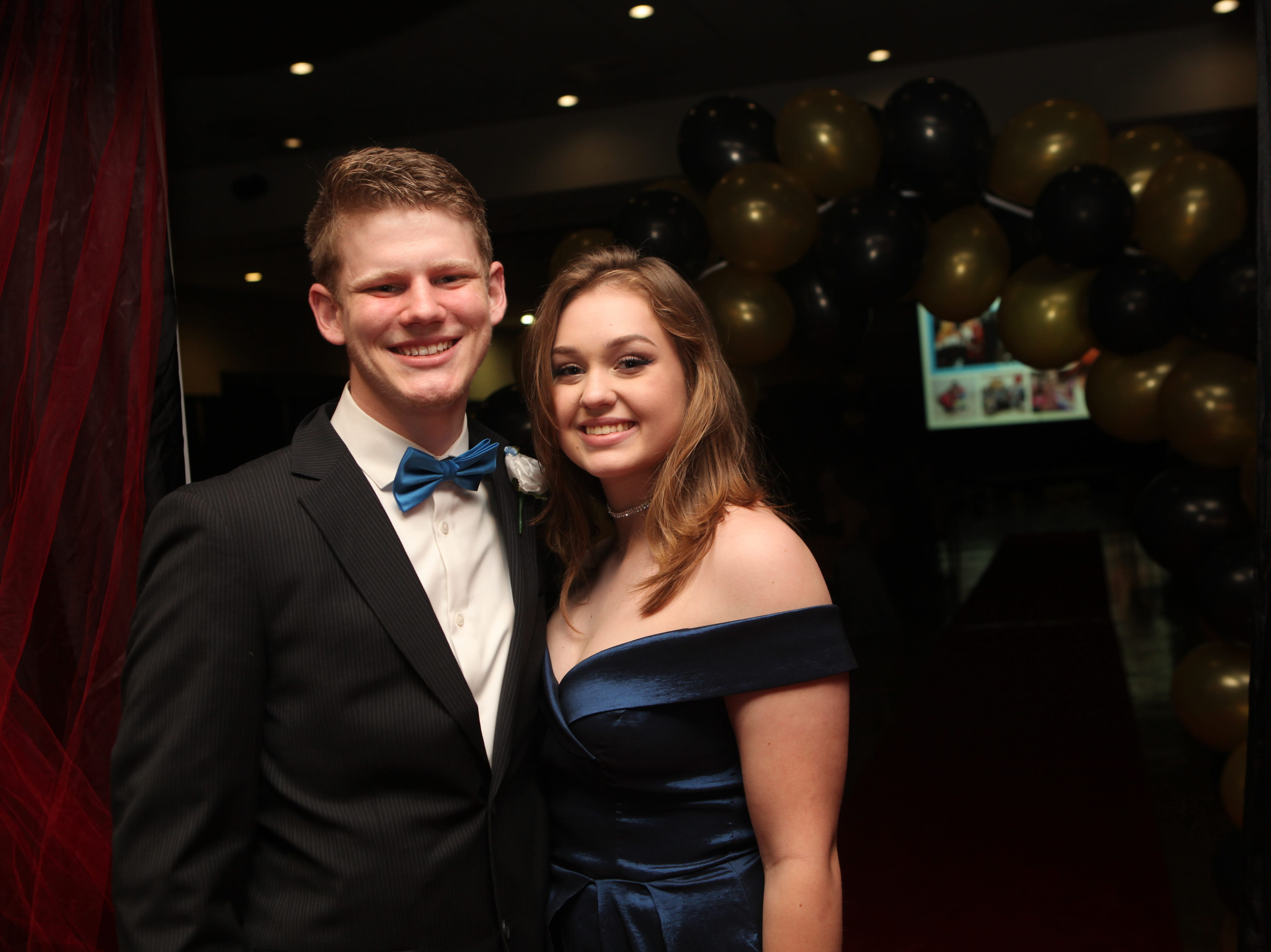 Kendra Smith and Jacob Schroeder at the Middle College 2019 prom at the APSU Ballroom on Friday, April 26, 2019.