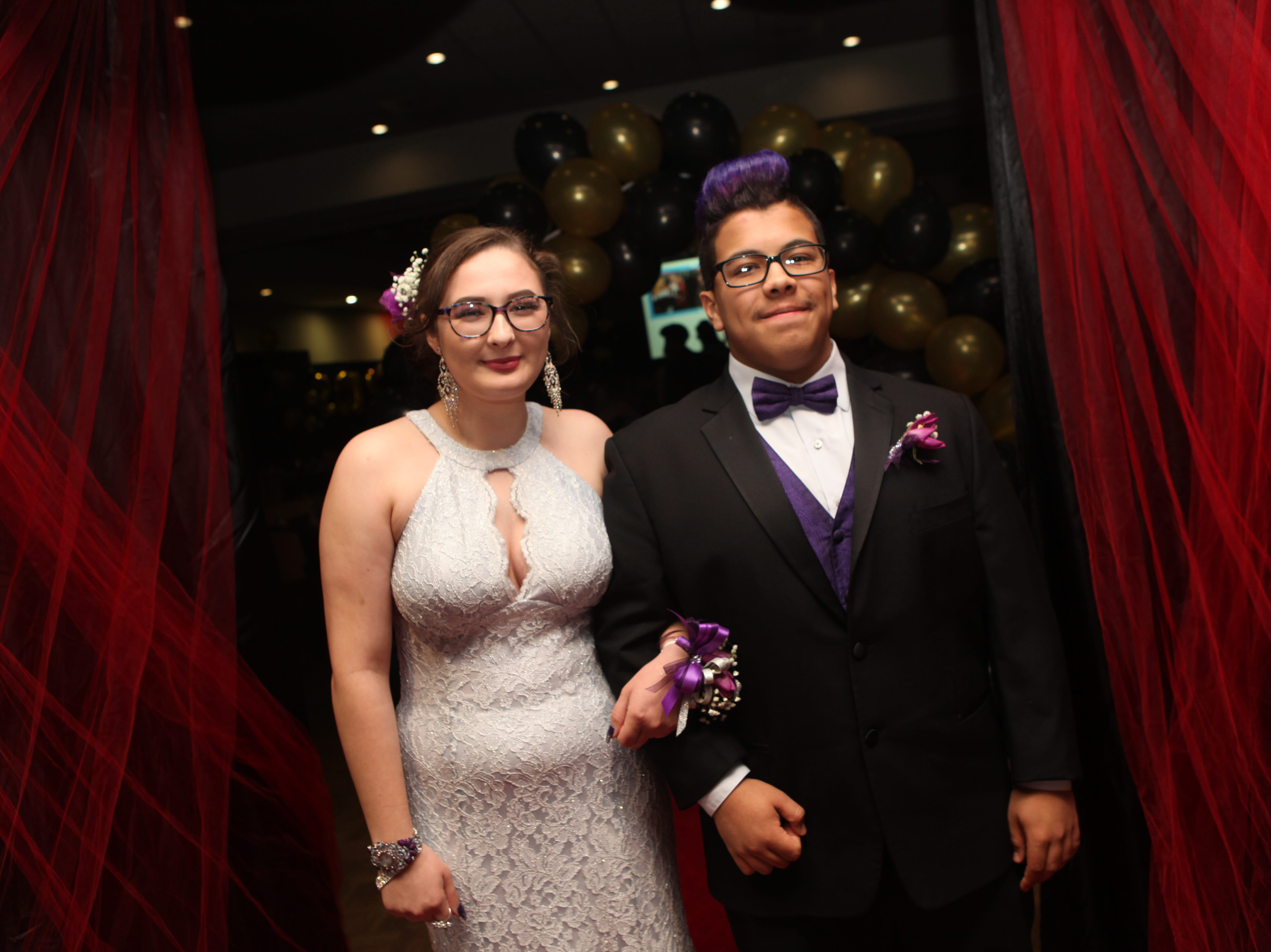 Kenona Miller and Kaleb Melendez at the Middle College 2019 prom at the APSU Ballroom on Friday, April 26, 2019.