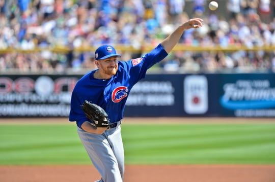 Chicago Cubs pitcher Mike Montgomery made a rehab start with the Iowa Cubs on Sunday.