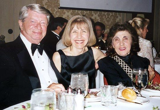 Dr. Eva Feldman is photographed with her parents, George and Margherita Feldman.