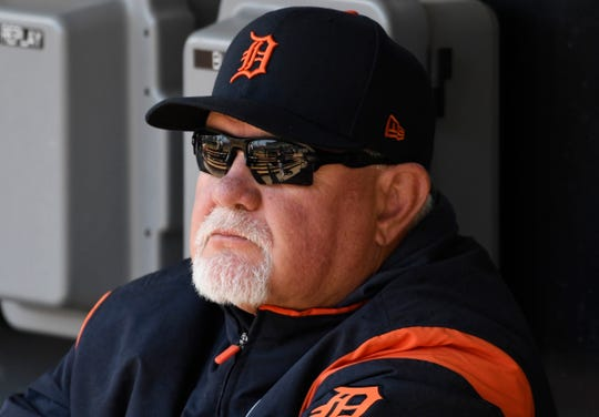 Tigers manager Ron Gardenhire sits in the dugout before Sunday's game.