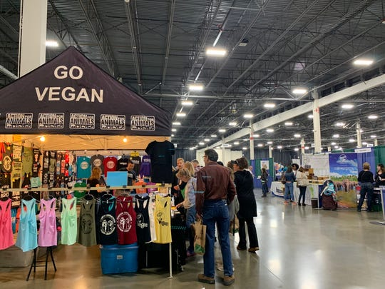 A look at the Action for Animals booth at the Michigan VegFest on Sunday, April 28, 2019 at the Suburban Collection Showplace in Novi.