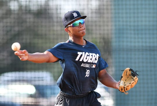 Tigers shortstop prospect Wenceel Perez was a late-season callup for the West Michigan Whitecaps last season.