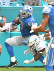 Lions tight end Michael Roberts faces plenty of new competition this offseason.