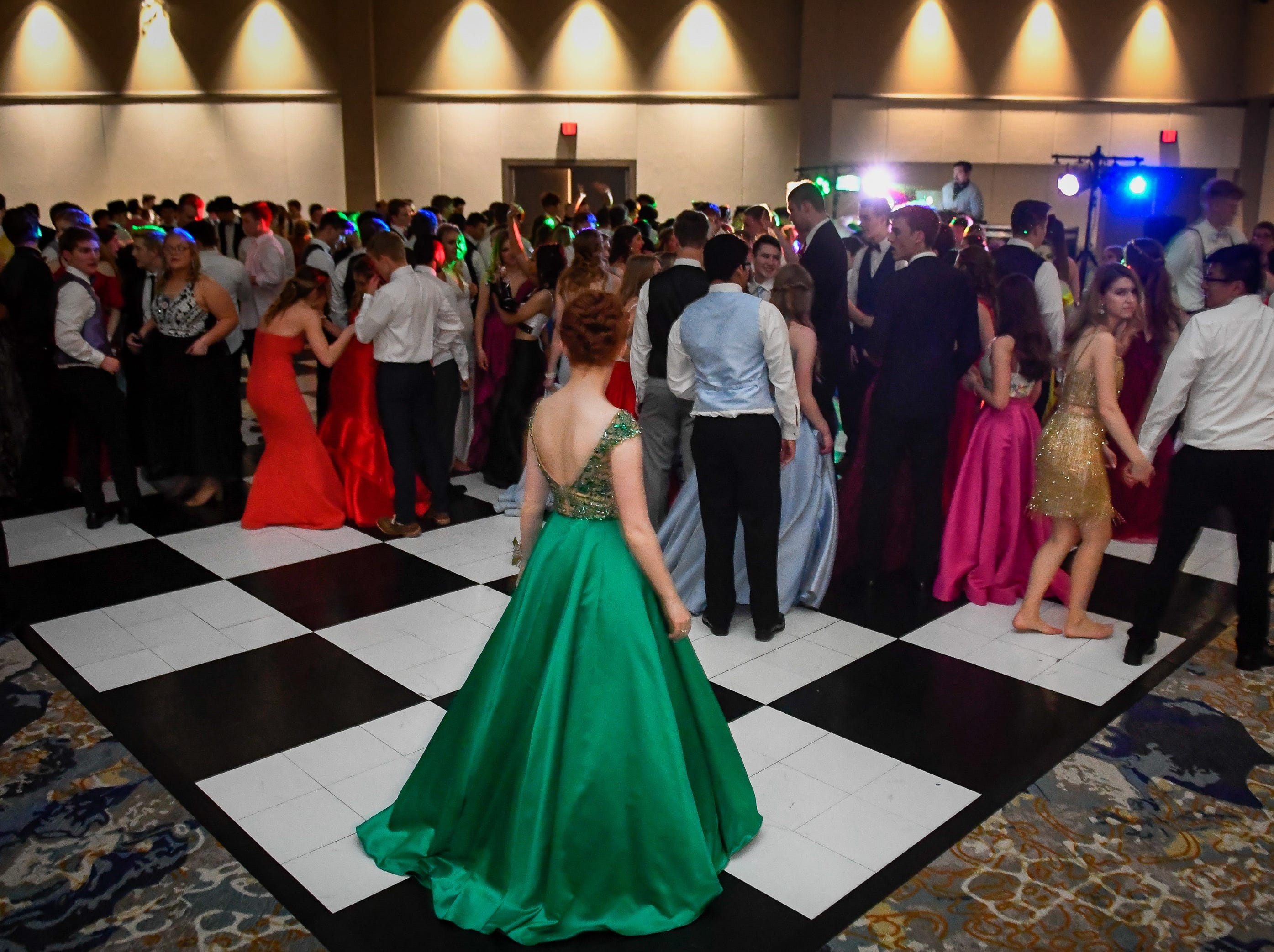 The Memorial High School prom, held at the Old National Events Center Plaza Saturday, April 27, 2019.