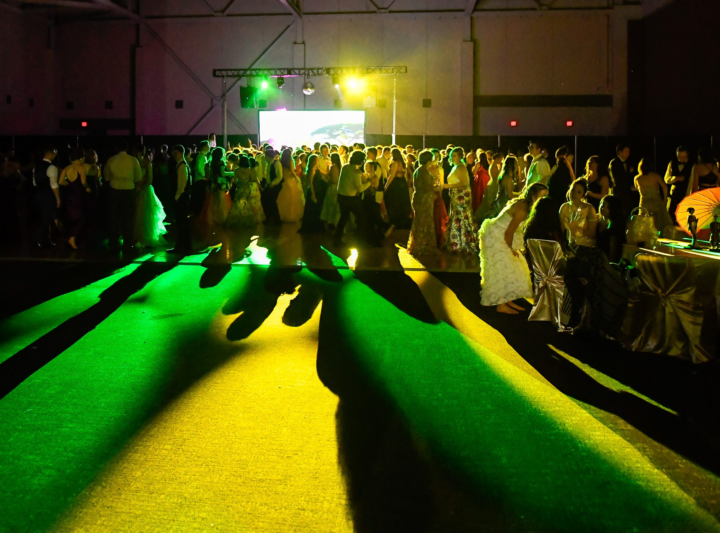Dancing at the Castle High School prom, held at the Old National Events Center Plaza Saturday, April 27, 2019.
