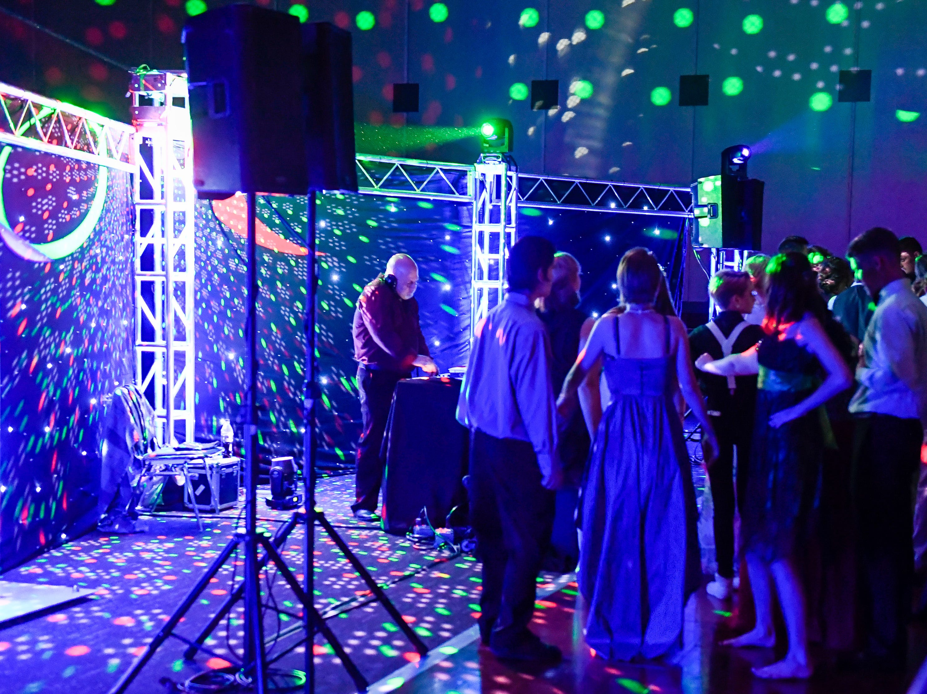 Couples dance at the Boonville High School prom, held at the Old National Events Center Plaza Saturday, April 27, 2019.