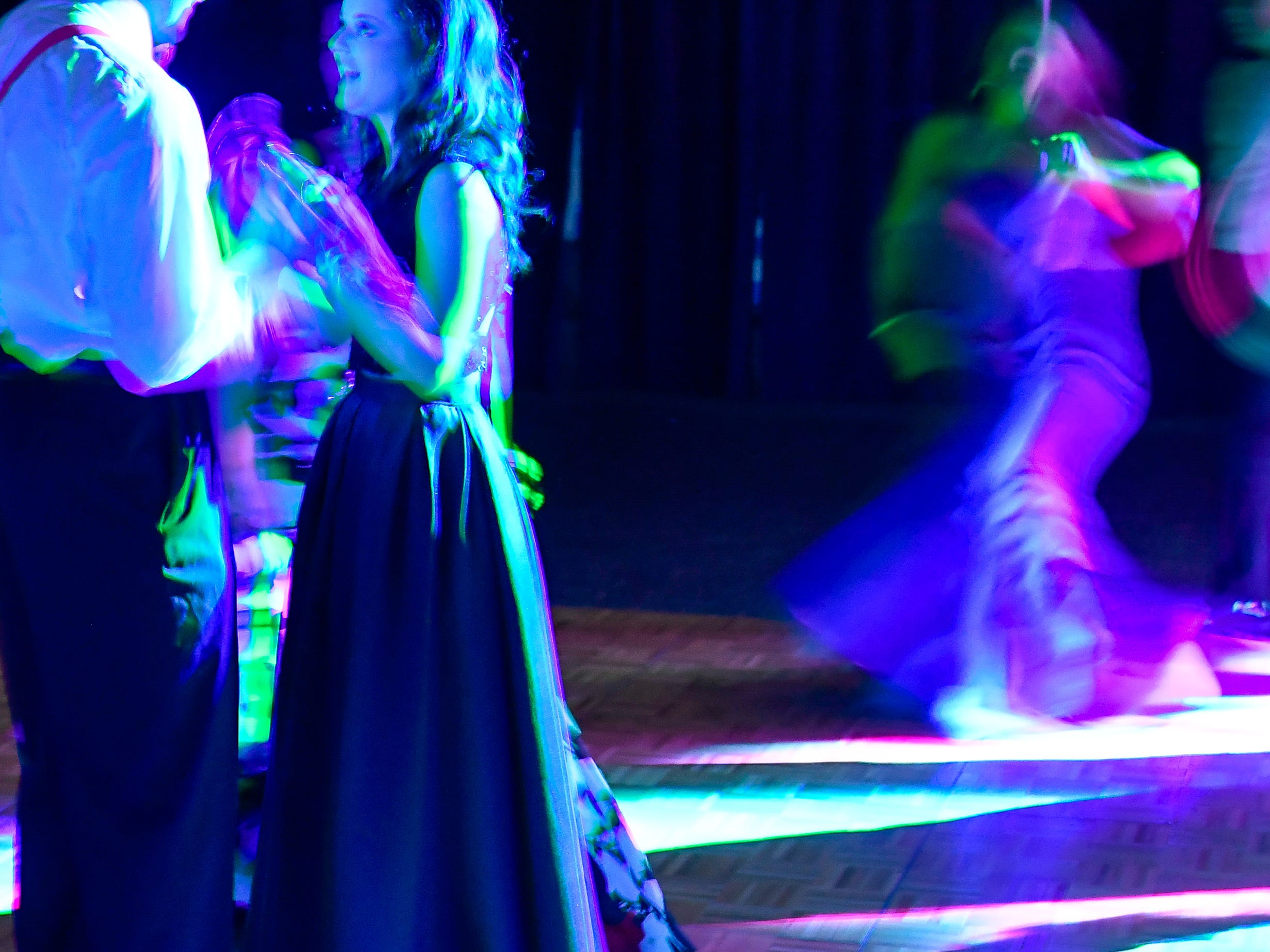 Couples dance at the Castle High School prom, held at the Old National Events Center Plaza Saturday, April 27, 2019.