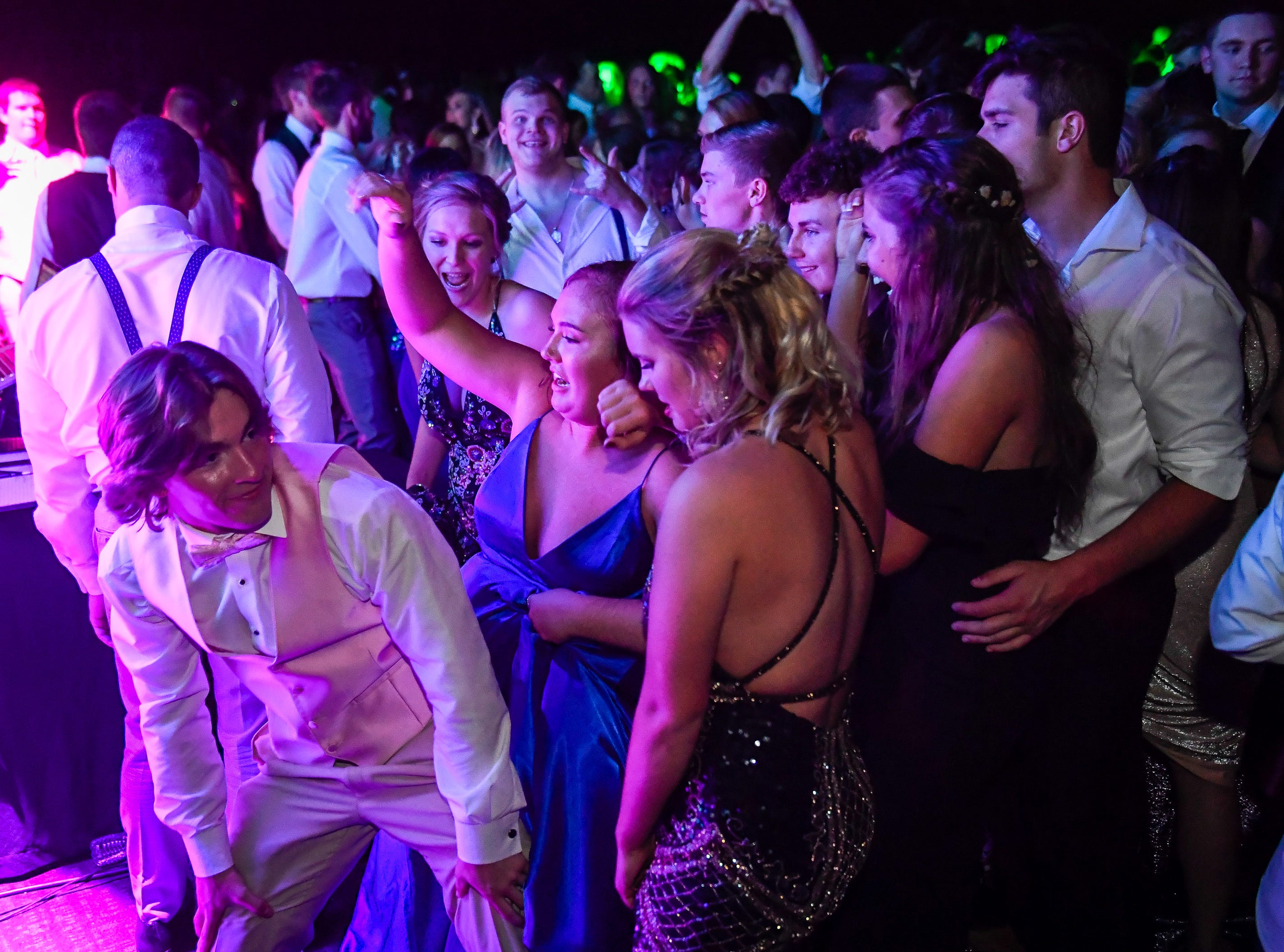 Dance action at the Castle High School prom, held at the Old National Events Center Plaza Saturday, April 27, 2019.