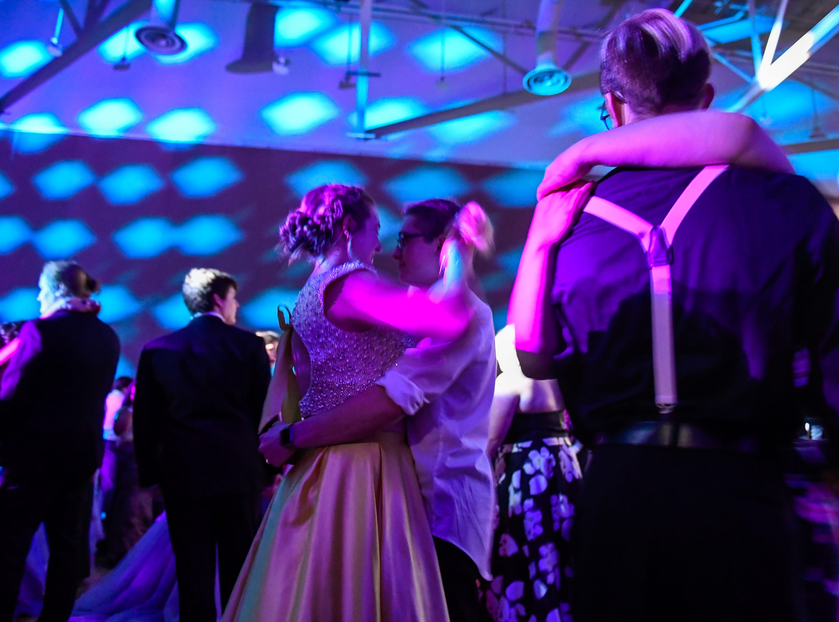 Slow dancing at the Castle High School prom, held at the Old National Events Center Plaza Saturday, April 27, 2019.