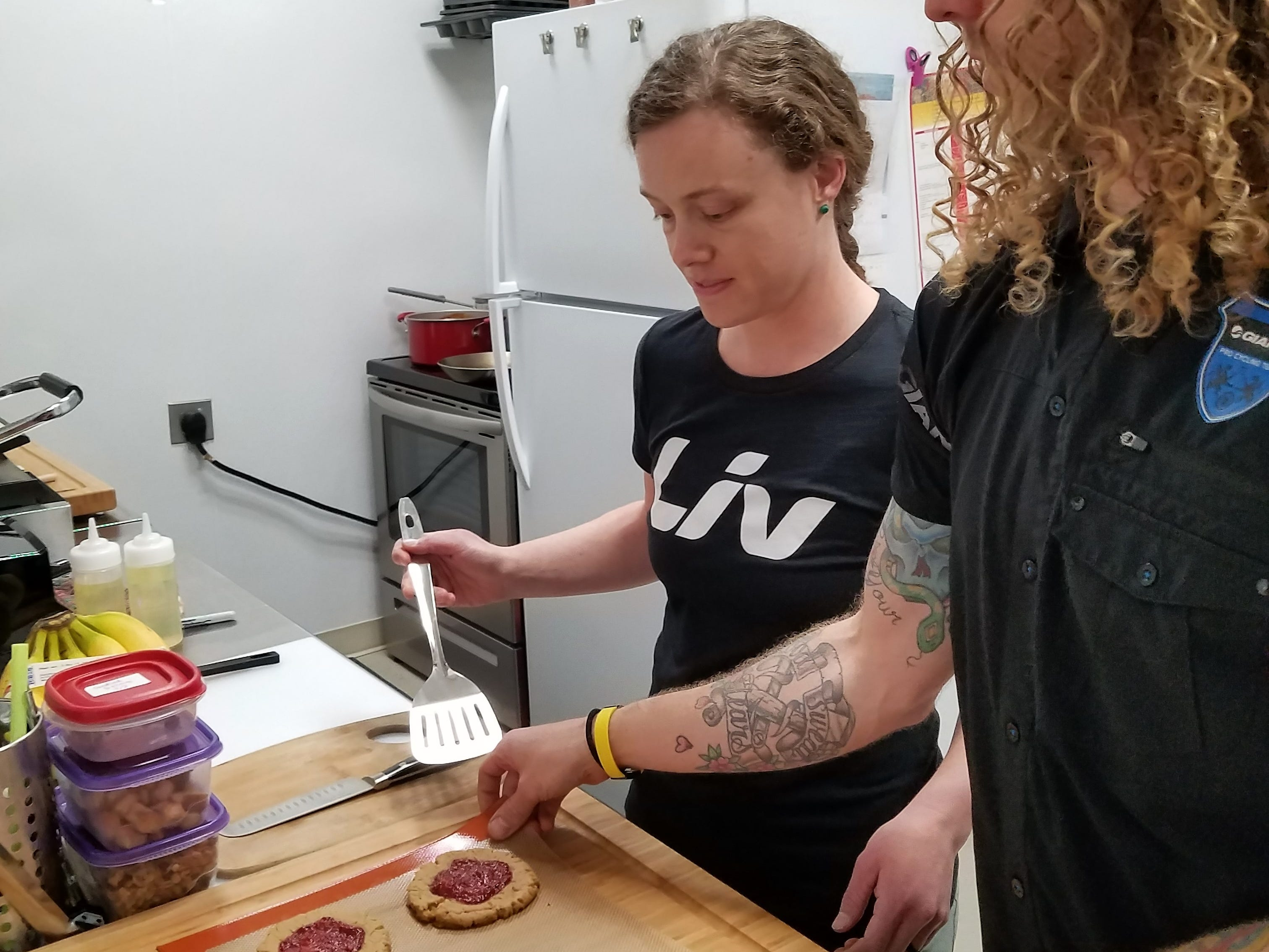 Rachael Moll does all her own vegan and vegetarian baking at La Forêt inside Cycling Solutions in Newburgh.