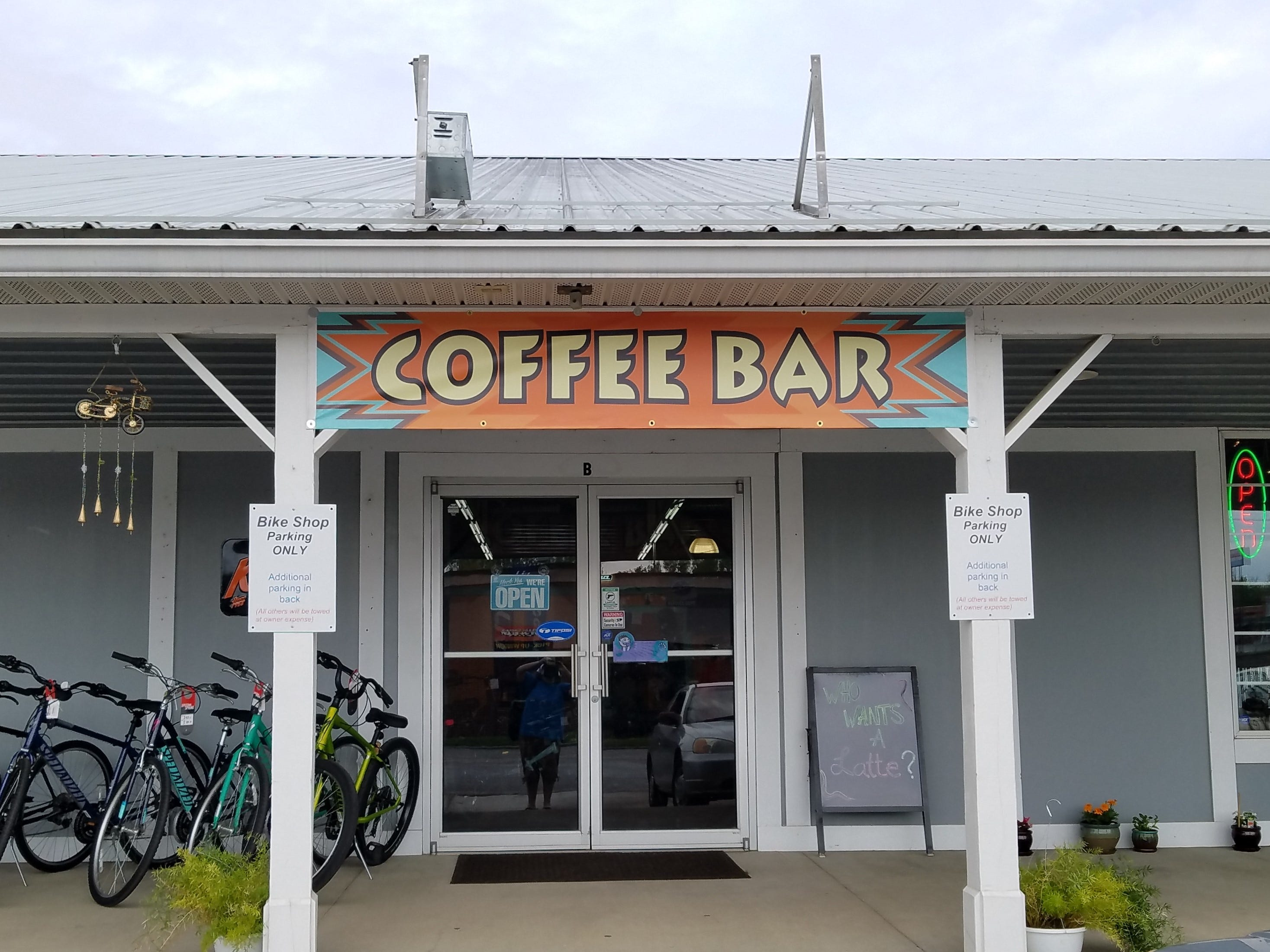 The coffee bar inside Cycling Solutions is now a cafe named La Forêt .