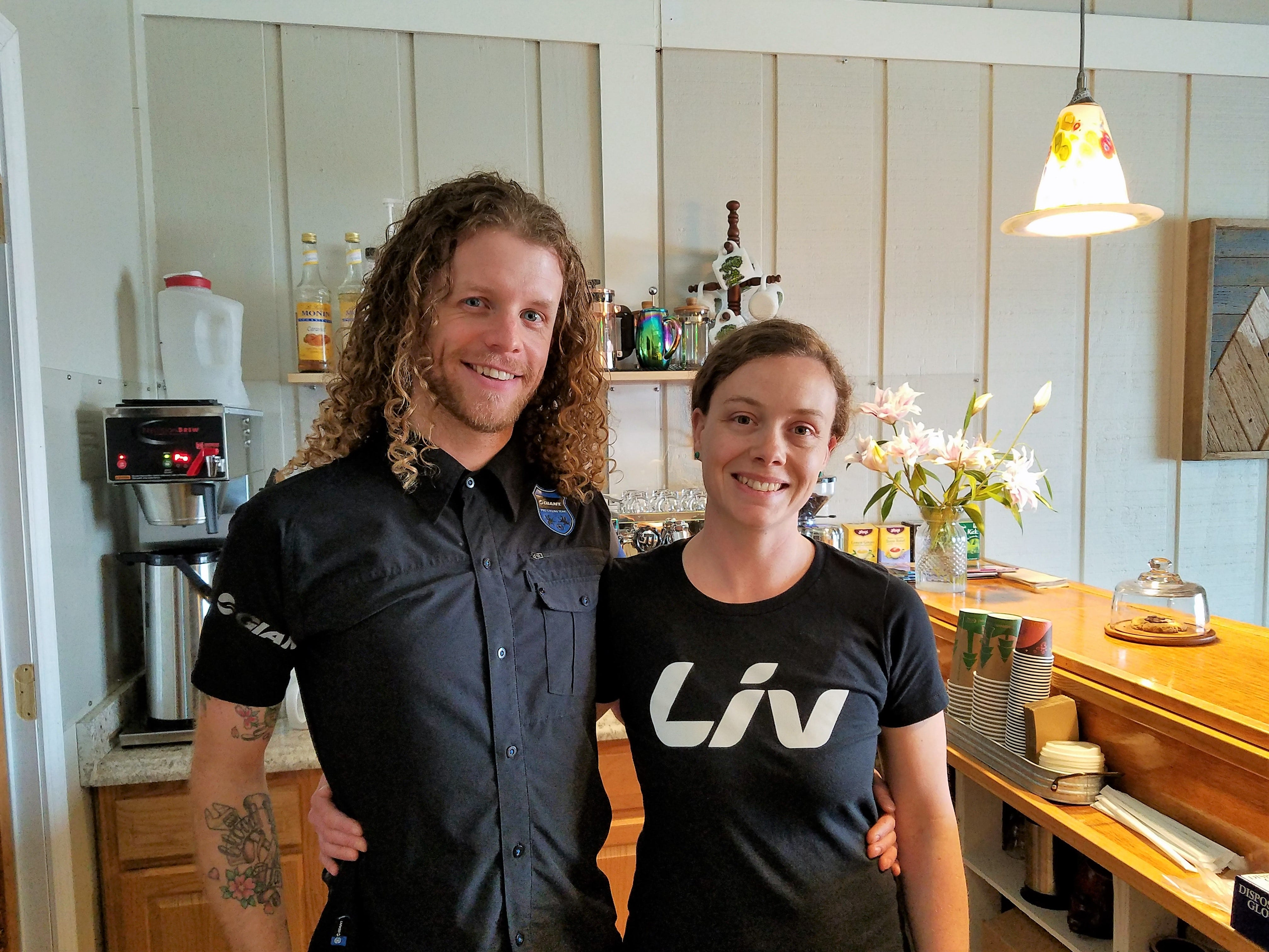 Ben and Rachael Moll own Cycling Solutions and La Forêt cafe.