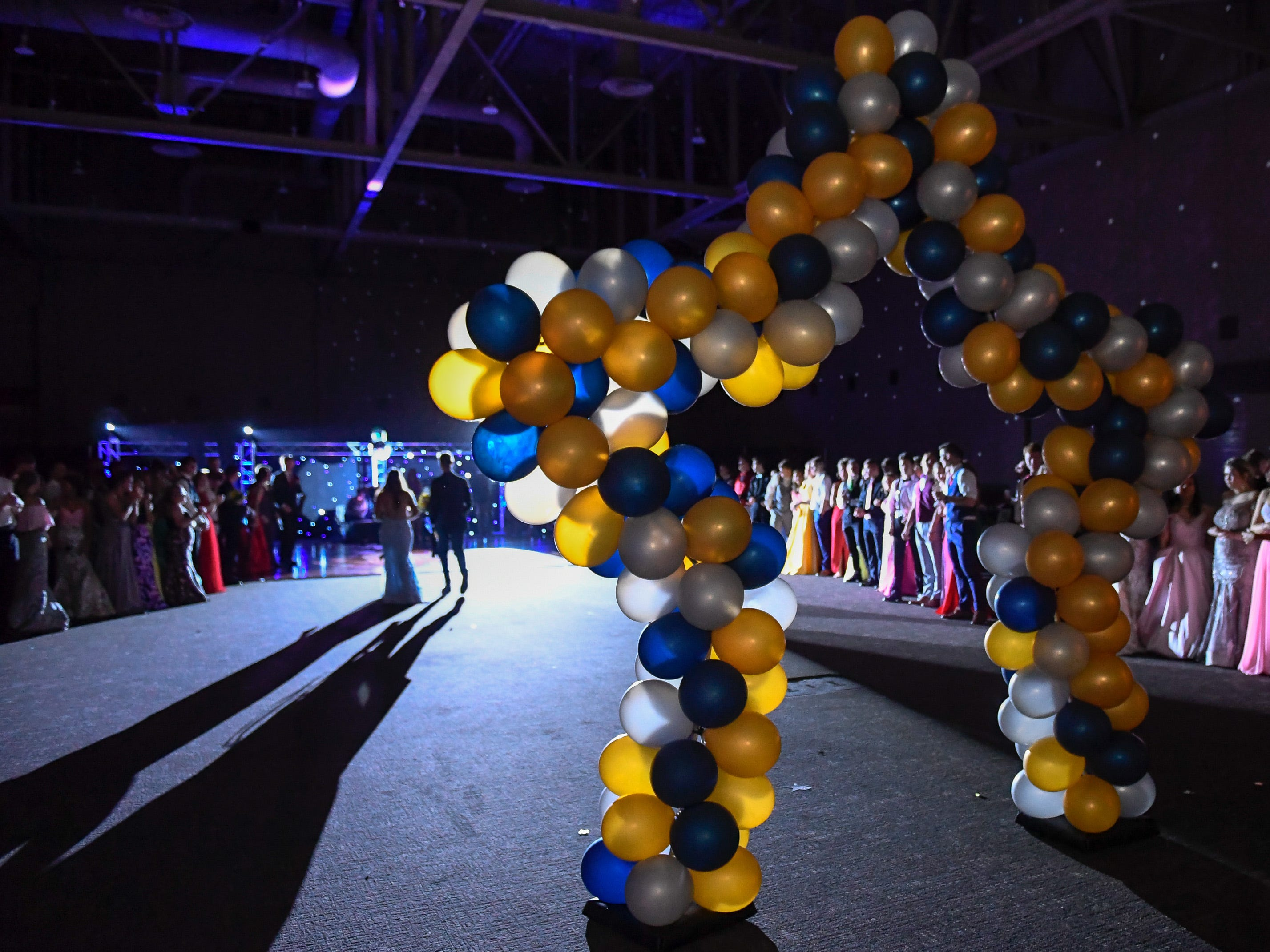 The prom court is introduced at the Boonville High School prom, held at the Old National Events Center Plaza Saturday, April 27, 2019.